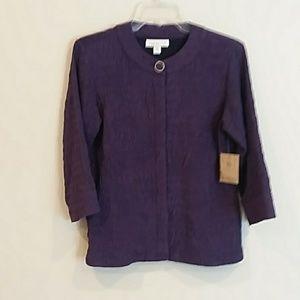 New coldwater creek size p6 purple blazer jacket
